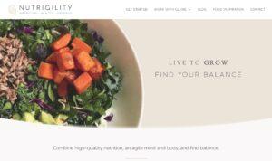 Nutrigility homepage