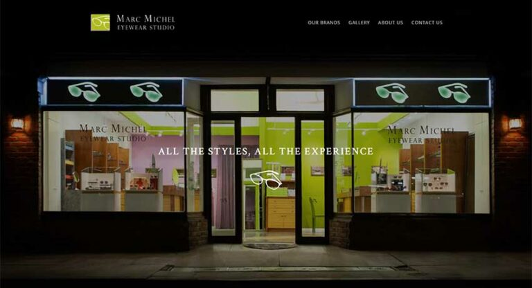 marc michel eyewear studio homepage