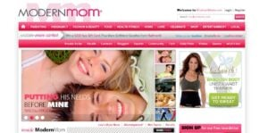 modern mom homepage