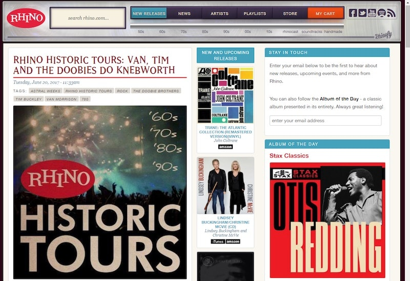 Rhino Records homepage