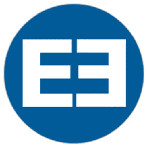 Eclectic Electric blue circle logo