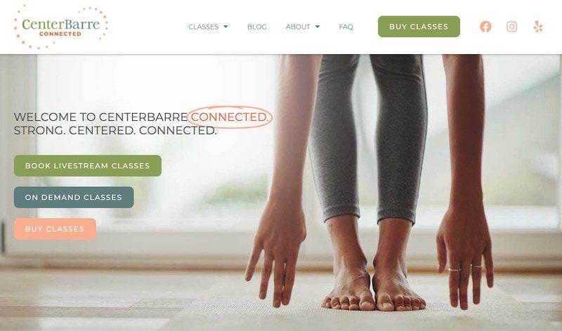 CenterBarre homepage