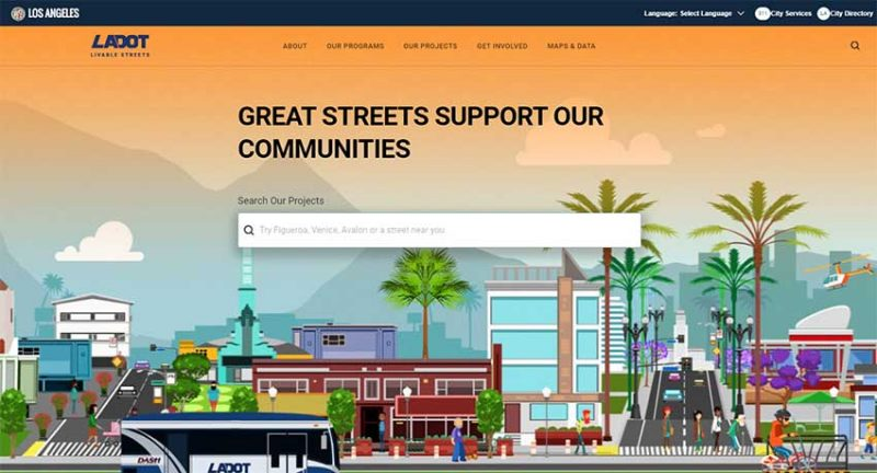 LADOT livable streets homepage
