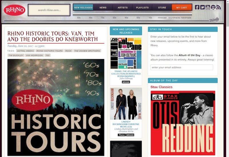Rhino Records homepage